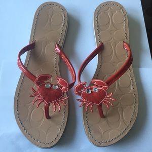 Coach crab sandals size 9